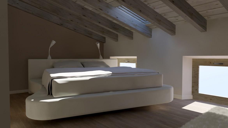 Studio di progettazione arredo attico david interni for Arredamento attico